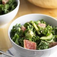Avocado & Grapefruit Kale Salad with Dijon Dressing